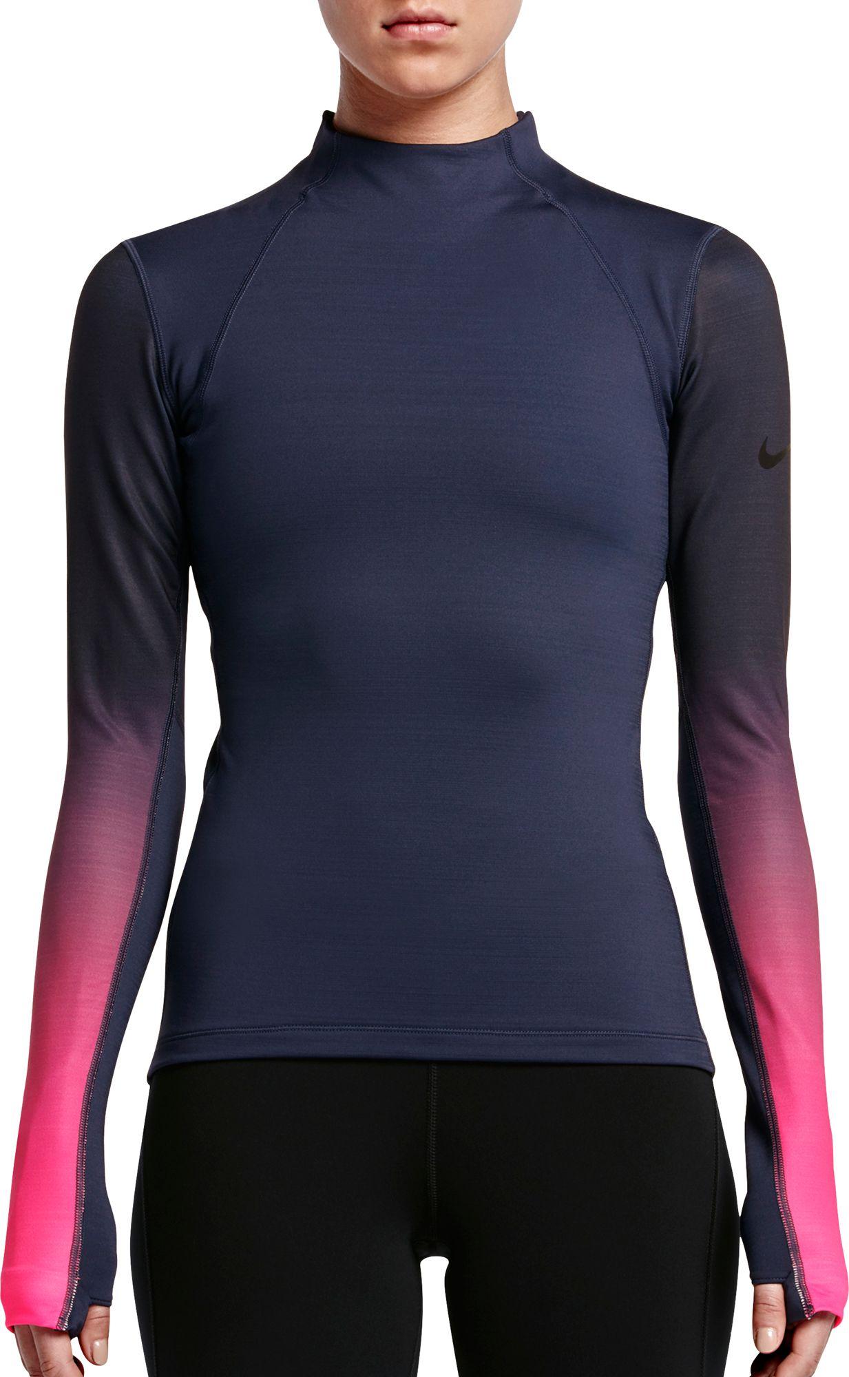Nike Pro Hyperwarm Printed Long Sleeve Womens Shirt