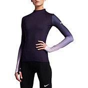Nike Women's Pro Hyperwarm Fade Printed Long Sleeve Shirt