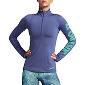 Nike Women's Pro Warm Half Zip Long Sleeve Shirt