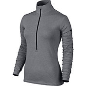 Nike Women's Pro Hyperwarm Fitted Half Zip 3.0 Long Sleeve Compression Shirt