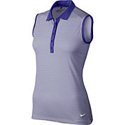 Nike Women's Dri-FIT Victory Stripe Sleeveless Golf Polo