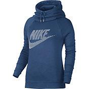 Nike Women's Sportswear Rally Funnel Neck Graphic Hoodie