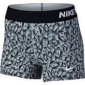 Nike Women's 3'' Pro Cool Facet Printed Shorts