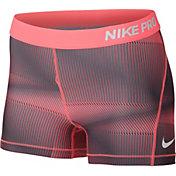 Nike Women's 3'' Pro Cool Pyramid Printed Shorts