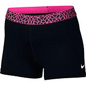Nike Women's 3'' Pro Cool Giraffe Printed Shorts