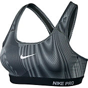 Nike Women's Pro Classic Padded Frequency Printed Compression Sports Bra