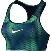 Nike Women's Pro Classic Swoosh Pyramid Printed Sports Bra