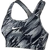 Nike Women's Pro Classic Swoosh Overdrive Printed Sports Bra
