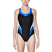 Nike Women's Victory Color Block Power Back Tank Swimsuit