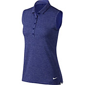 Nike Women's Icon Sleeveless Heather Golf Polo