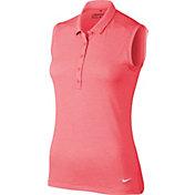 Nike Women's Icon Sleeveless Heather Golf Polo
