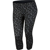 Nike Women's Plus Size Dri-FIT Essential Printed Running Capris