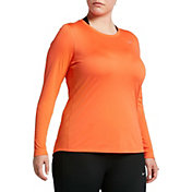Nike Women's Plus Size Miler Long Sleeve Running Shirt