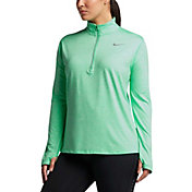 Nike Women's PLus Size Element Half Zip Long Sleeve Running Shirt