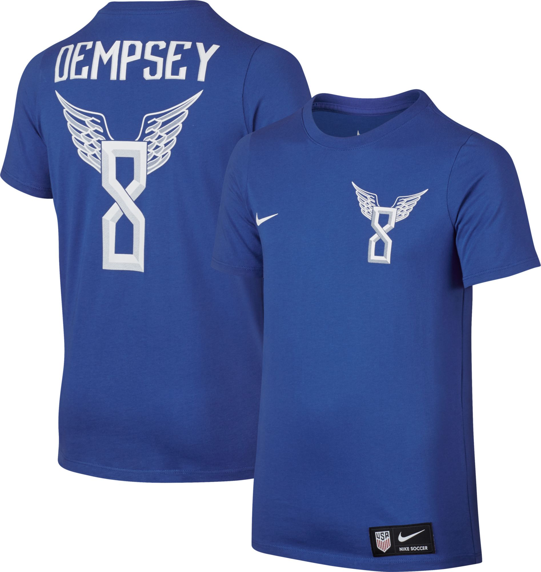 ae9cead84 Nike Youth USA Clint Dempsey 8 Blue Player T-Shirt DICKS .