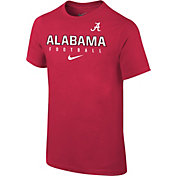 Nike Youth Alabama Crimson Tide Crimson Core Facility Football Sideline T-Shirt