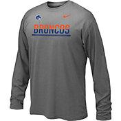Nike Youth Boise State Broncos Anthracite Staff Sideline Long Sleeve Shirt
