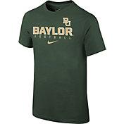 Nike Youth Baylor Bears Green Core Facility Football Sideline T-Shirt