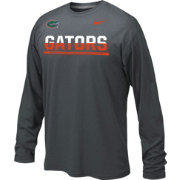 Nike Youth Florida Gators Anthracite Staff Sideline Long Sleeve Shirt