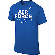 Nike Youth Air Force Falcons Blue Core Facility Football Sideline T-Shirt