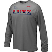 Nike Youth Fresno State Bulldogs Anthracite Staff Sideline Long Sleeve Shirt