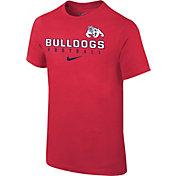Nike Youth Fresno State Bulldogs Cardinal Core Facility Football Sideline T-Shirt