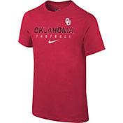 Nike Youth Oklahoma Sooners Crimson Core Facility Football Sideline T-Shirt