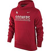Nike Youth Oklahoma Sooners Crimson Therma-FIT Hoodie