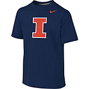 Nike Youth Illinois Fighting Illini Blue Sideline Logo Legend T-Shirt