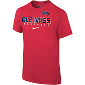 Nike Youth Ole Miss Rebels Red Core Facility Football Sideline T-Shirt