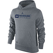 Jordan Youth Michigan Wolverines Grey Therma-FIT KO Hoodie