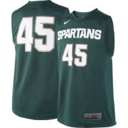 Nike Youth Michigan State Spartans #45 Green ELITE Replica Basketball Jersey