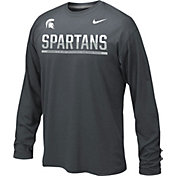 Nike Youth Michigan State Spartans Anthracite Staff Sideline Long Sleeve Shirt