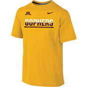 Nike Youth Minnesota Golden Gophers Gold Legend Staff Sideline T-Shirt