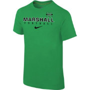 Nike Youth Marshall Thundering Herd Green Core Facility Football Sideline T-Shirt