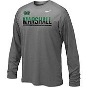 Nike Youth Marshall Thundering Herd Anthracite Staff Sideline Long Sleeve Shirt