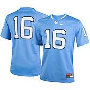 Nike Youth North Carolina Tar Heels #16 Carolina Blue Game Football Jersey