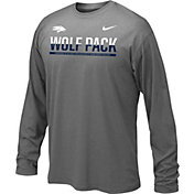 Nike Youth Nevada Wolf Pack Anthracite Staff Sideline Long Sleeve Shirt