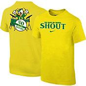 Nike Youth Oregon Ducks Yellow 'Shout' Football T-Shirt