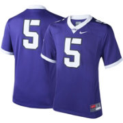 Nike Youth TCU Horned Frogs #5 Purple Game Football Jersey