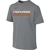 Nike Youth Texas Longhorns Grey Legend Staff Sideline T-Shirt