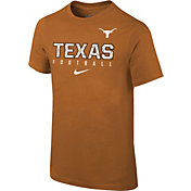 Nike Youth Texas Longhorns Burnt Orange Core Facility Football Sideline T-Shirt