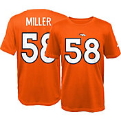 Nike Youth Denver Broncos Von Miller #58 Orange T-Shirt