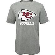 Nike Youth Kansas City Chiefs Facility Grey T-Shirt