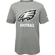 Nike Youth Philadelphia Eagles Facility Grey T-Shirt