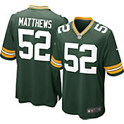 Nike Youth Home Game Jersey Green Bay Packers Clay Matthews #52