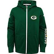 Nike Youth Green Bay Packers Circuit Green Full-Zip Hoodie