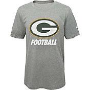 Nike Youth Green Bay Packers Facility Grey T-Shirt