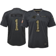 Nike Youth Home Game Jersey Carolina Panthers Cam Newton #1 Salute to Service 2016