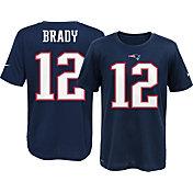 Nike Youth New England Patriots Tom Brady #12 Navy T-Shirt